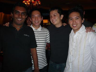 L- R: Gobala, Ewen, Vince, Edmund Loh
