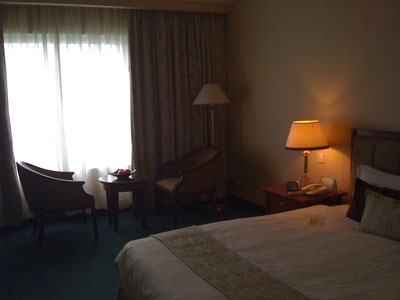 Inside the 5-star Evergreen Laurel Hotel - sea view!